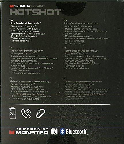 altavoz bluetooth portatil monster superstar hotshot negro
