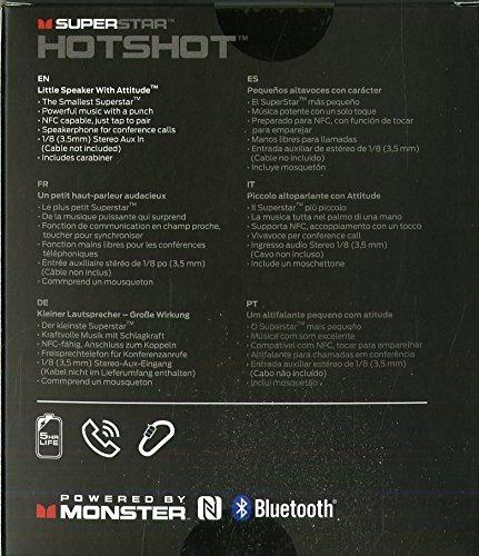 altavoz bluetooth portátil monster superstar hotshot negro