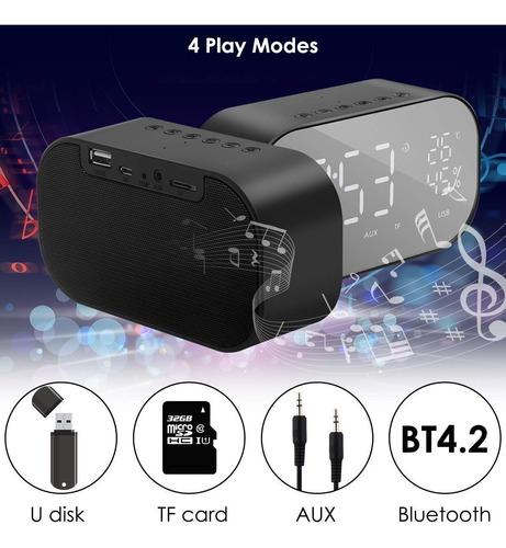 altavoz bluetooth radio despertador con radio fm digital