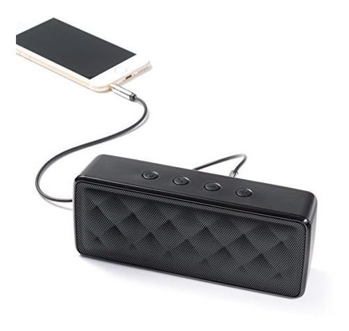 altavoz inalambrico bluetooth portatil amazonbasics, negro