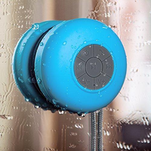 altavoz inalámbrico de la ducha bluetooth con la ventosa   c