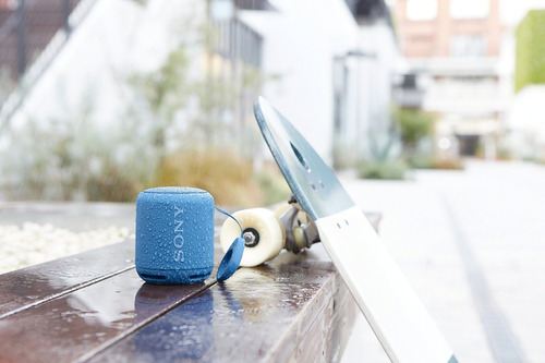 altavoz inalámbrico portátil sony xb10 con bluetooth, azul (