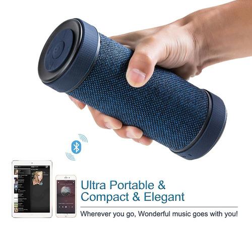 altavoz portable sin hilos de bluetooth de hapyia con el ban