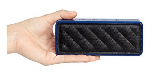 altavoz portatil con bluetooth amazonbasics azul