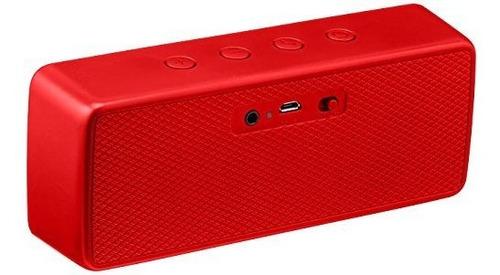 altavoz portatil con bluetooth amazonbasics rojo