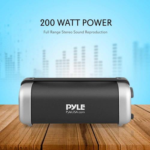 altavoz pyle pbmsqg12 inalámbrio con bluetooth de 200w
