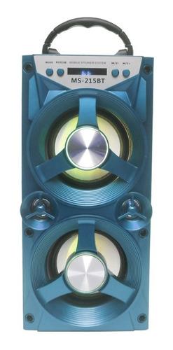 altavoz torre bluetooth ms-215bt (10w, fm, mp3, aux)