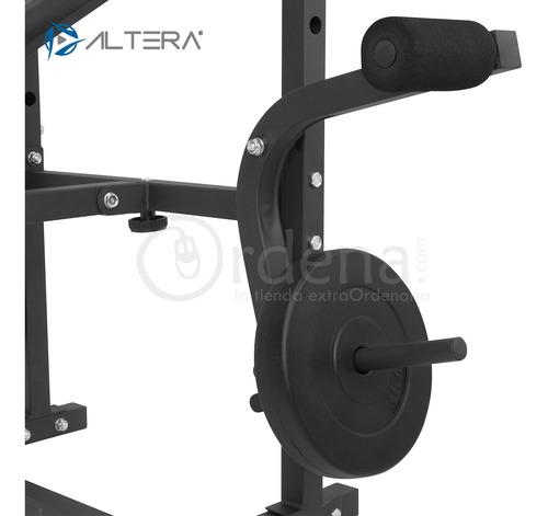 altera bm-002 banco multipocisiones para pesas kit con disco