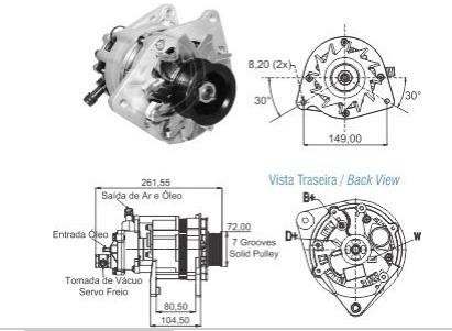 alternador ford ranger 2.5 motor maxion tipo bosch maxion