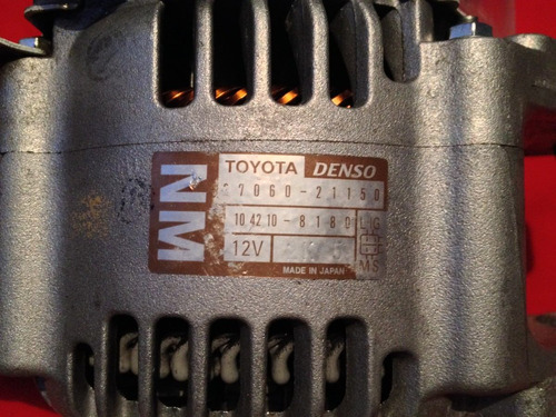 alternador toyota yaris original denso np 1042108180