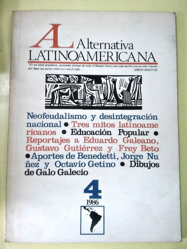 alternativa latinoamericana n°4 1986