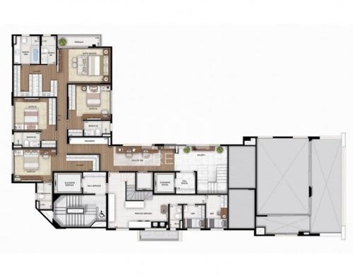 altíssimo padrão itaim 330m² 4 suites 5 vagas - ap435