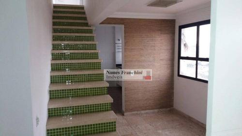 alto da moóca - zl/sp - cobertura duplex com 3 dormitórios, 3 vagas- r$ 1.800.000,00 - ad0004
