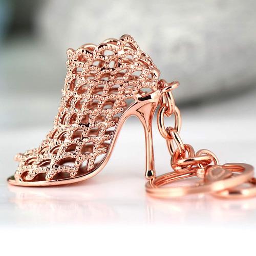 alto de tacón zapato llavero creativo moda refinamiento dam