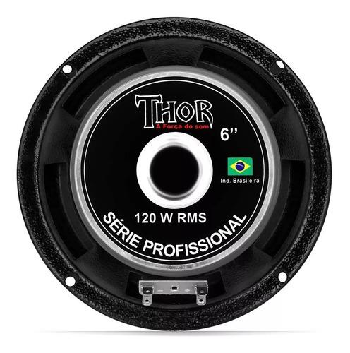 alto falante 6 potência áudio 240w cone seco bom thor
