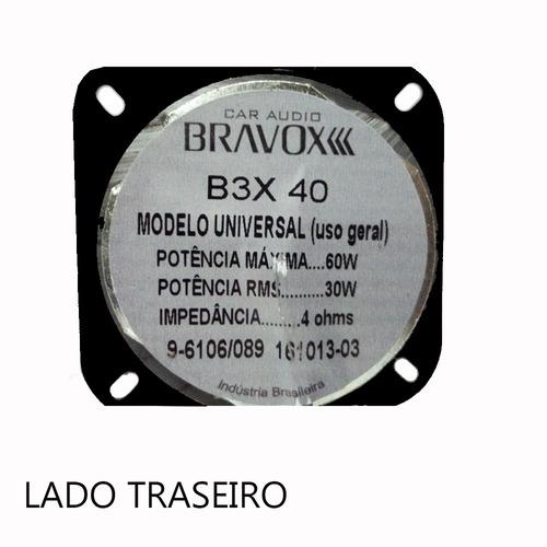alto falante automotivo b3x 40 triaxial bravox - 4 polegadas