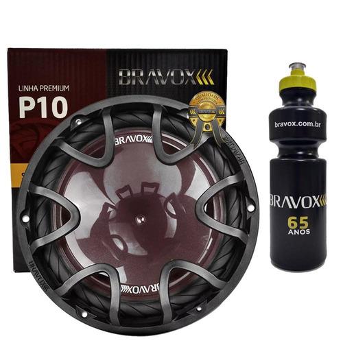 alto falante p10 s4 subwoofer 10  160w rms bravox + brinde