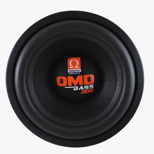alto falante subwoofer omega driver omd bass 10 pol 300 rms