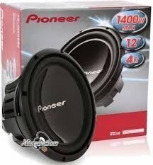 alto falante subwoofer pioneer ts w310 d4 1400w bobina dupla