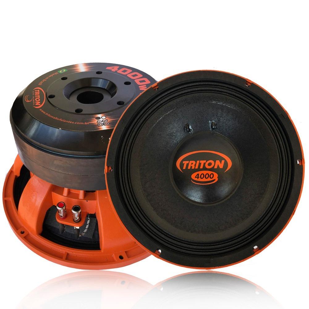 c02dfa470 Alto Falante Triton Woofer 12 Tr 4000 Wrms 2/4 Ohms Plug/pla - R ...