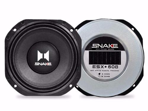 alto falante woofer snake 8 polegadas esx608 300w rms 8 ohms