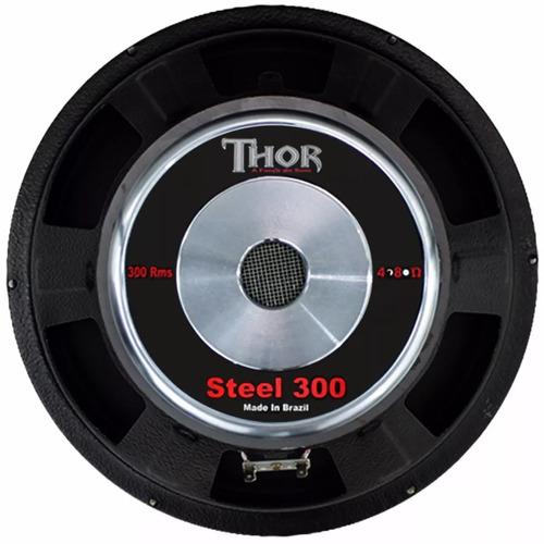 alto falante woofer thor 12 polegadas 300w watts rms 4 ohms