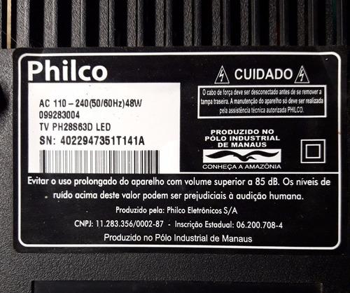 alto falantes par tv philco ph28s63d led original - usado.