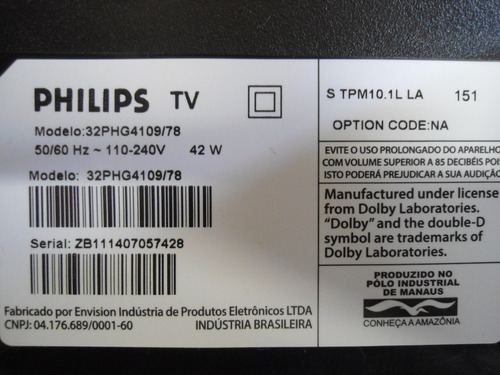 alto falantes philips 32phg4109/78