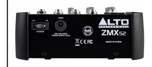 alto zmx52 consola mixer