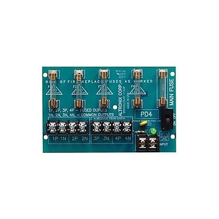 altronix pd4 4 fused output power distribution module 28vac