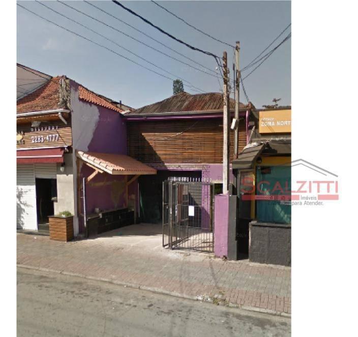 aluga-se casa para comercio em santana rua dr.cesar - ca0238