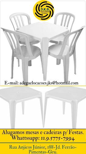 alugamos salão para festas e reuniões e tb mesas e cadeira..