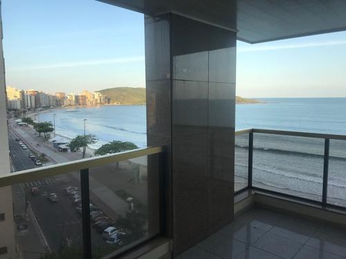 alugo p/temporada beira mar, vista p/ praia do morro 4 qts