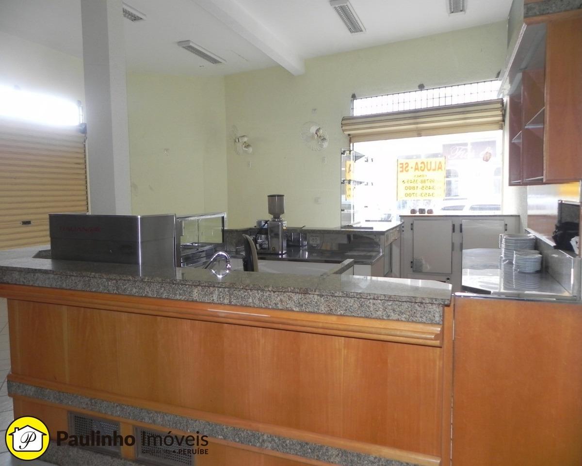 alugo salão comercial para no centro da cidade de peruíbe. excelente localização! - sl00122 - 34474089