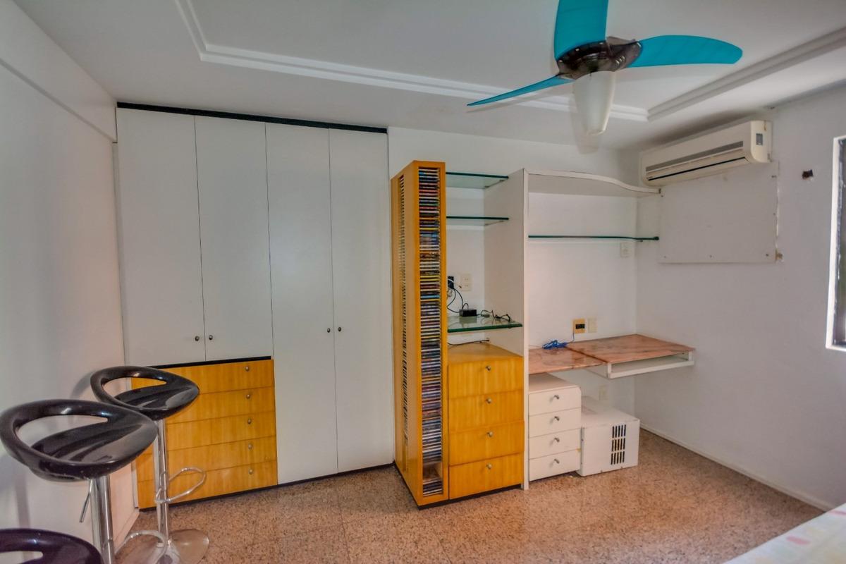 aluguel apartamento 3 quartos mobiliado - avenida beira mar