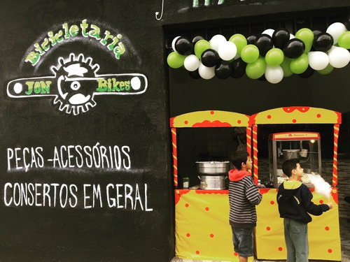 aluguel: barracas de pipoca + algodão doce por apenas r$ 280