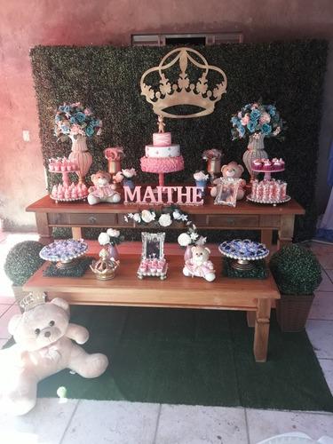 aluguel de decoração tema ursinha princesa