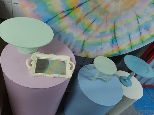 aluguel de decoração tie dye