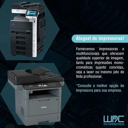 aluguel de impressoras suporte remoto manutenção de micros