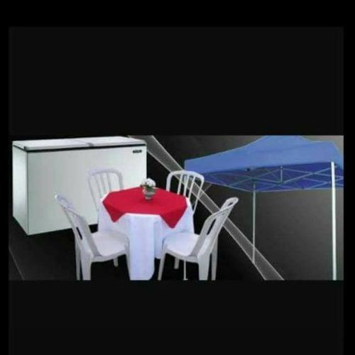 aluguel de mesas e cadeiras/ freezer