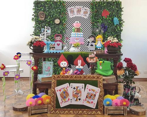 aluguel decoração festa alice no país das maravilhas - sp