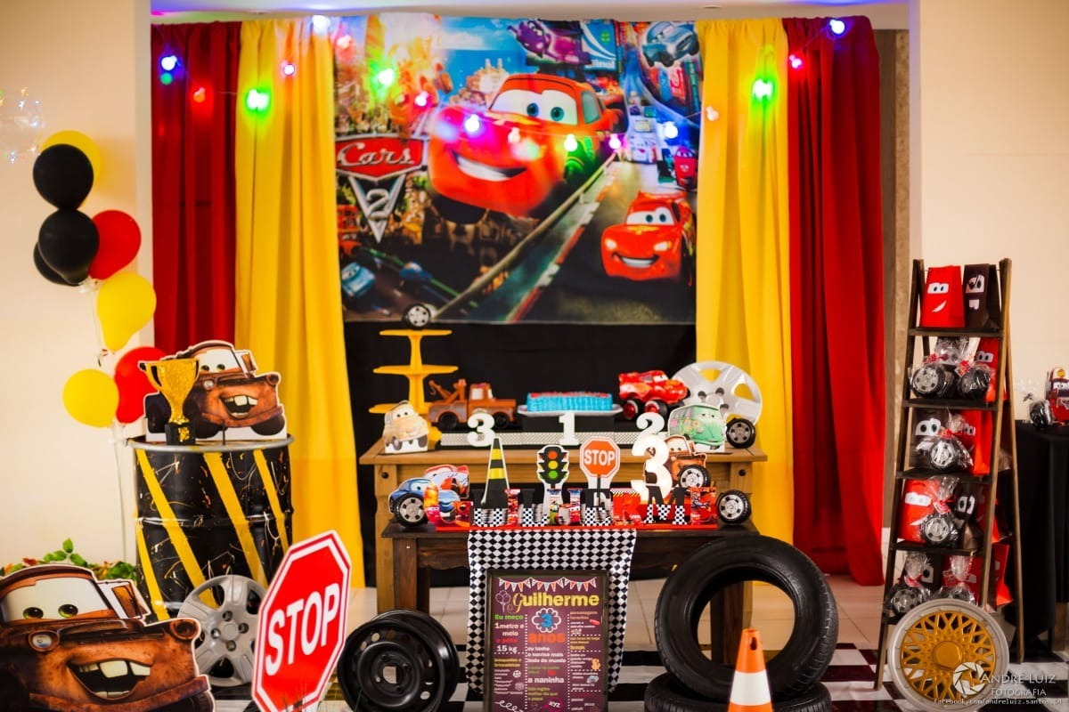 Aluguel Decoração Festa Carros Disney - R$ 359,00 em