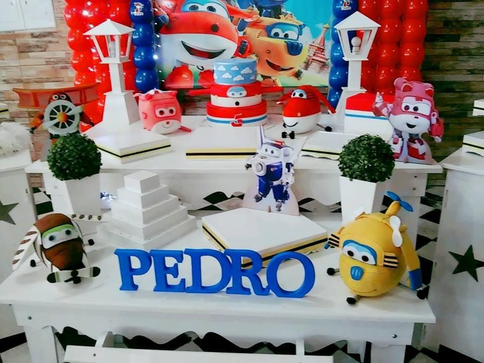 Aluguel Decoração Festa Infantil Super Wings  R$ 380,00 em Mercado