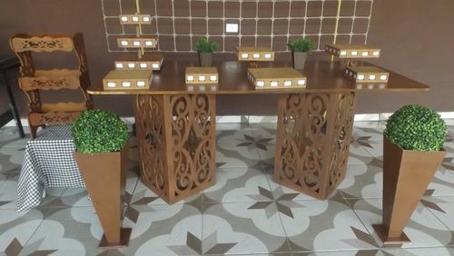 aluguel decoração provençal, cama elástica,mesa provençal