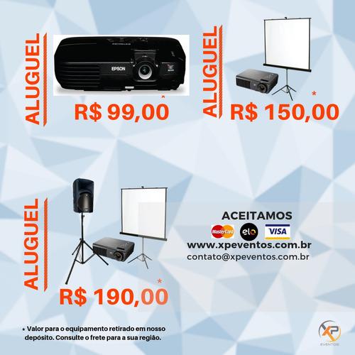aluguel / locação de datashow e projetor e telão 94299-0835