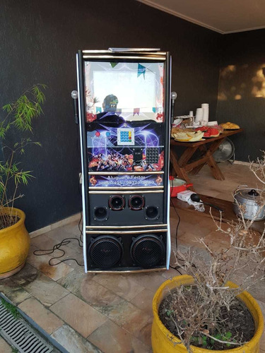 aluguel locação maquina de karaokê e videokê - 2 em 1
