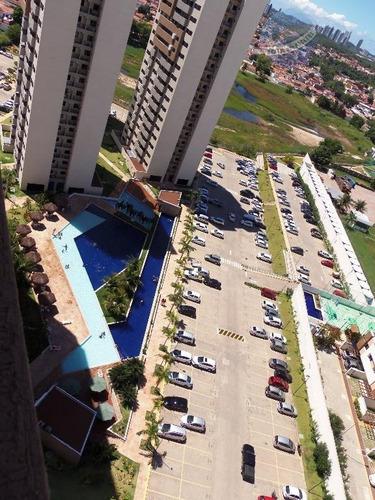 aluguel ou repasse de apartamento com duas vagas, neópolis, natal - central park - ap0123