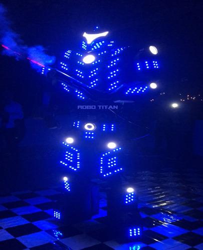 aluguel robô titan led locação evento debutante, casamento,