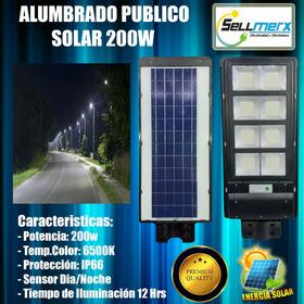 Alumbrado Publico Led Solar 200w Premium