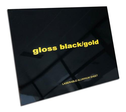 aluminio bicapa laserables 0,45mm x4 unidades negro / oro